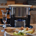 fondue set up