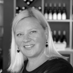 Photo of Kimberly Zacharias, she handles Winery Promotions for Black Star Farms.