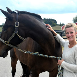 Photo of Kari Merz, Stables Manager and Director of Human Resources at Black Star Farms.