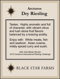 Example of a retail store self talker for the Arcturos Dry Riesling