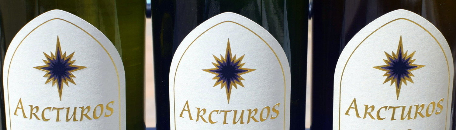 Bottles showing Arcturos and logo star only.