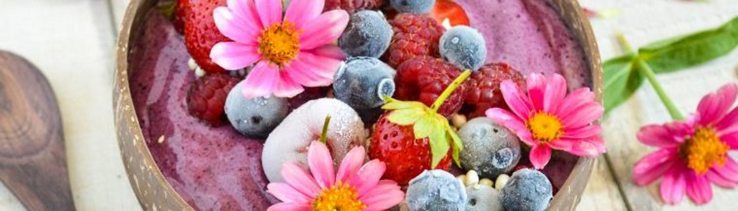 Example of yogurt with fresh berries, one of the offerings from our Mother's Day Brunch.