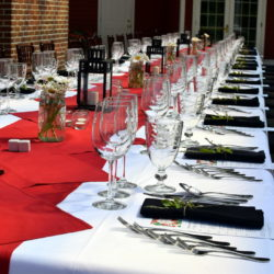 Table set for the Arcturos Dining Series at the Inn at Black Star Farms.