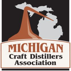 Logo and link to Michigan Craft Distillers Association.