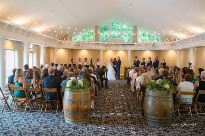 Wedding ceremony in the Aquarius Room at the Inn at Black Star Farms