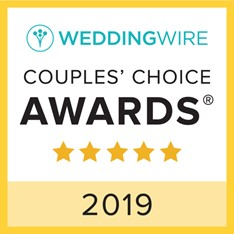 Wedding Wire Couple Choice Award for 2019.