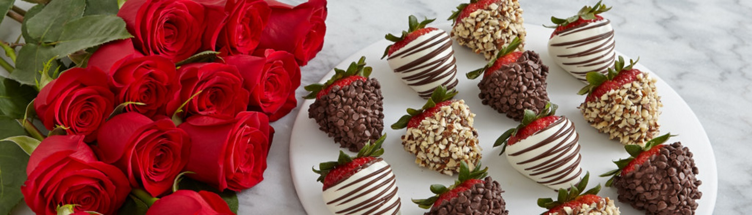 Example of long stem roses and chocolate covered strawberries that can be added to your stay.