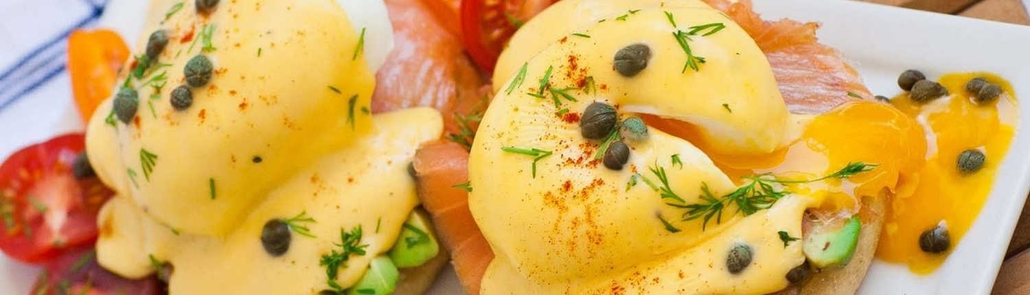 Smoked Salmon Benedict, one of our offerings from our Sunday Brunch on the Farm.