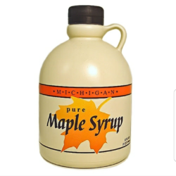 Photo of Michigan pure maple syrup.