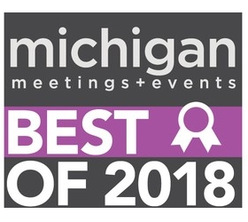 Michigan Meetings abd Events Best Of Award for 2018.