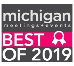 Michigan Meetings and Events Best Of Award for 2019.