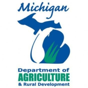 Logo and link to the Michigan Department of Agriculture & Rural Development.