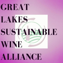 Logo and link to information about the Great Lakes Sustainable Wine Alliance.