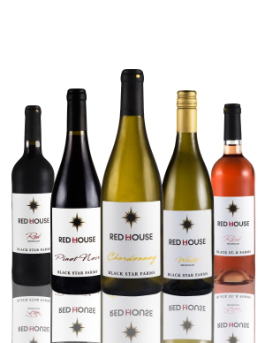 Group bottle shot of our Red House wines.