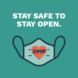 Stay safe to saty open with mask.