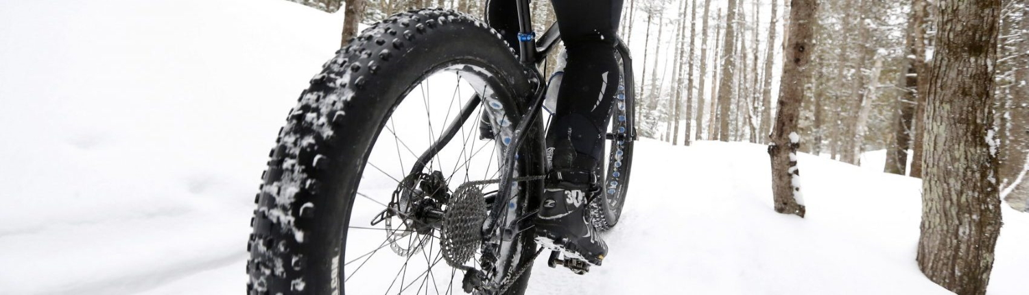 Fat tire biking in the snow.