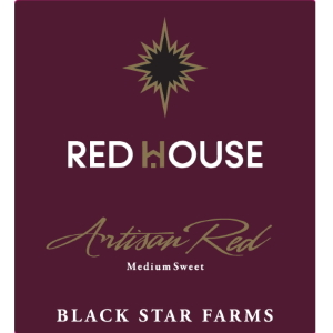 Label of the Red House Artisan Red.