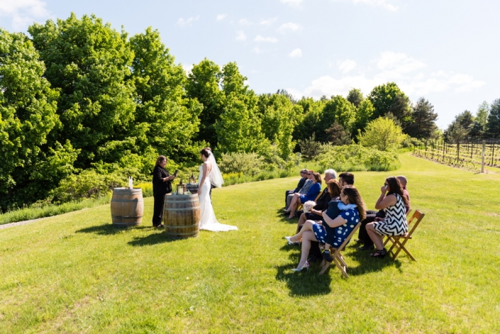 Small ceremony in the vineyard early summer.