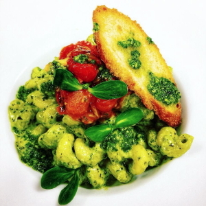 Pesto Pasta from a Weekend Dinner fron the Inn.