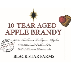 Label for the 10-Year Aged Apple Brandy.