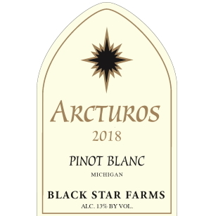 Label for the 2018 Arcturos Pinot Blanc