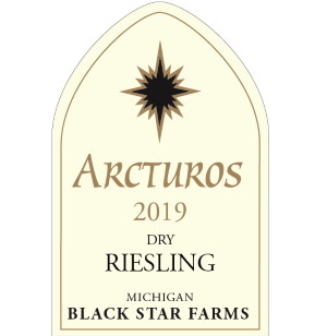 Label for the 2019 Arcturos Dry Riesling.