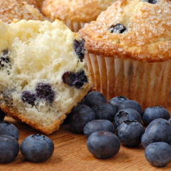 Image of fresh blueberry muffins