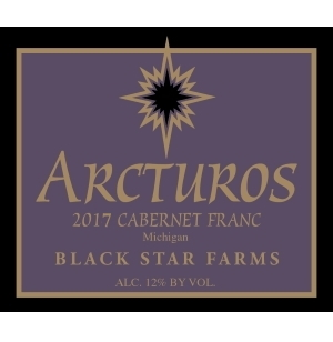 Label for the 2017 Arcturos Cabernet Franc