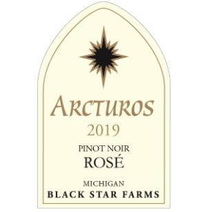 Label for the 2019 Arcturos Pinot Noir Rose.