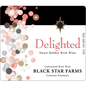 Label of Delighted sparkling wine.