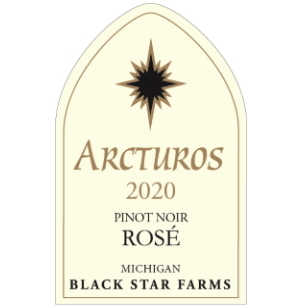 Label for the 2020 Pinot Noir Rose.