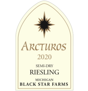Label for the 2020 Semi-Dry Riesling.